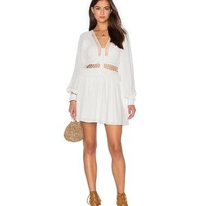 """Free People """"I Think I Love You"""" Dress in Ivory"""